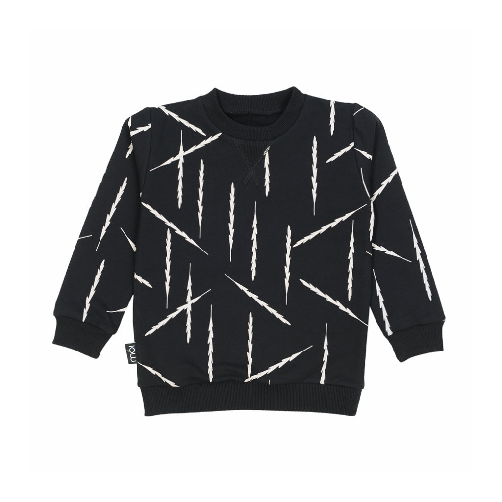 MOI OV Sweater - Black Feathers - Last One!! Size: 2Y