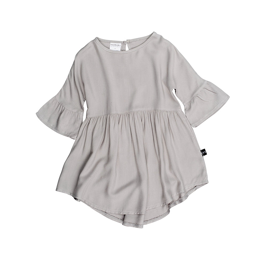 HUXBABY - Grey Woven Dress