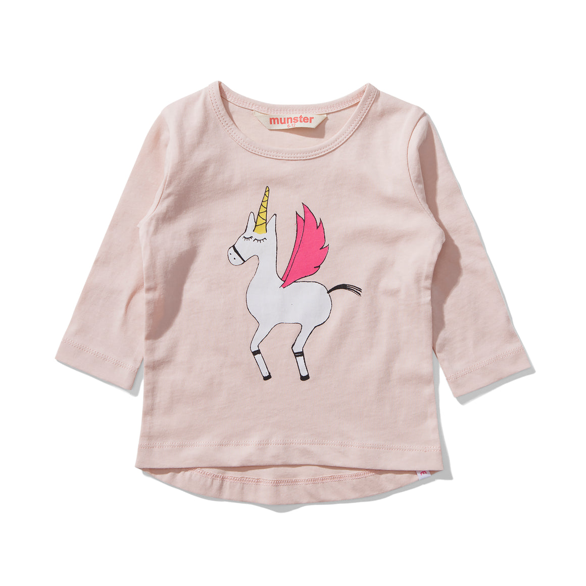 MUNSTERKIDS Unicorn Long-sleeve Tee - Pink