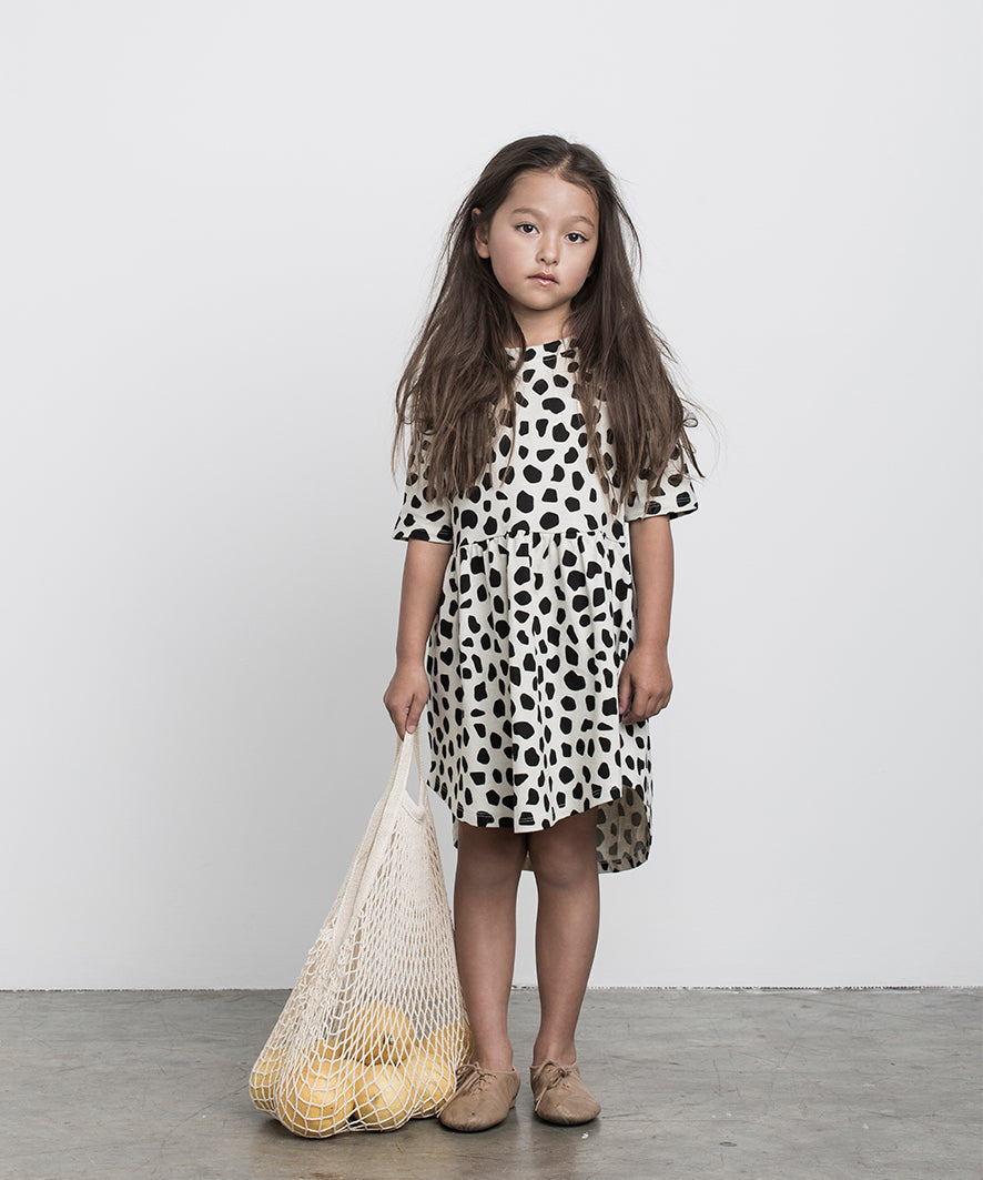 HUXBABY - Leopard Swirl Dress