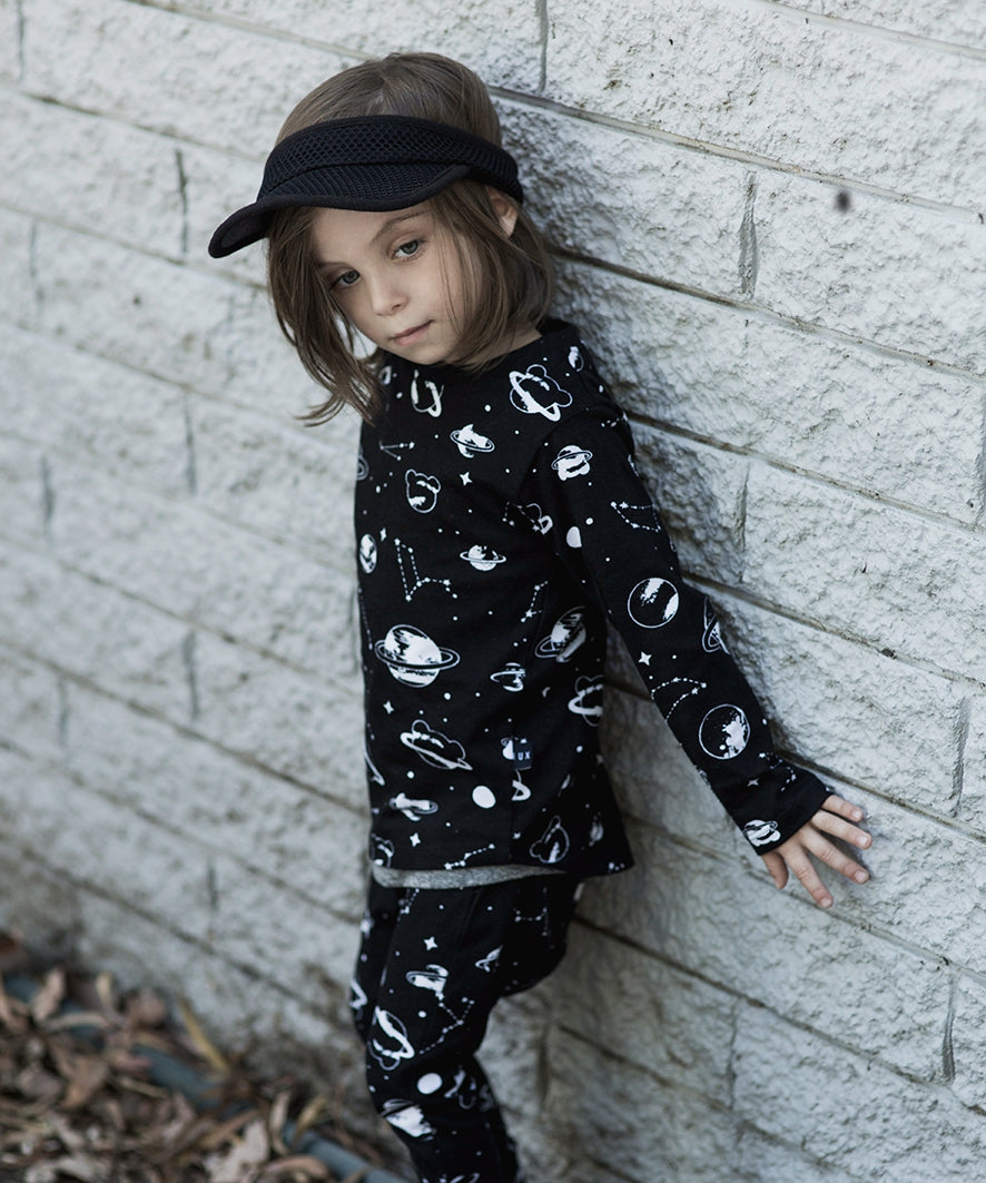 HUXBABY - Space Long Sleeve Top - Last One!! Size: 5Y