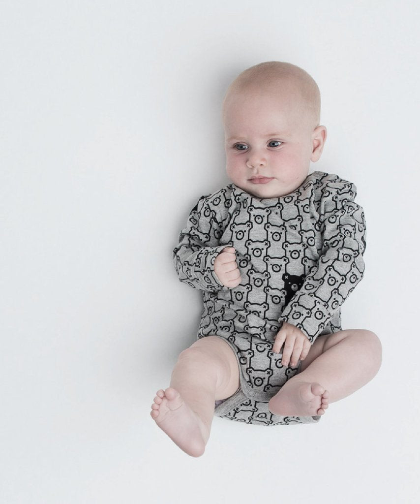 HUXBABY Hide N Seek Long Sleeve Onesie