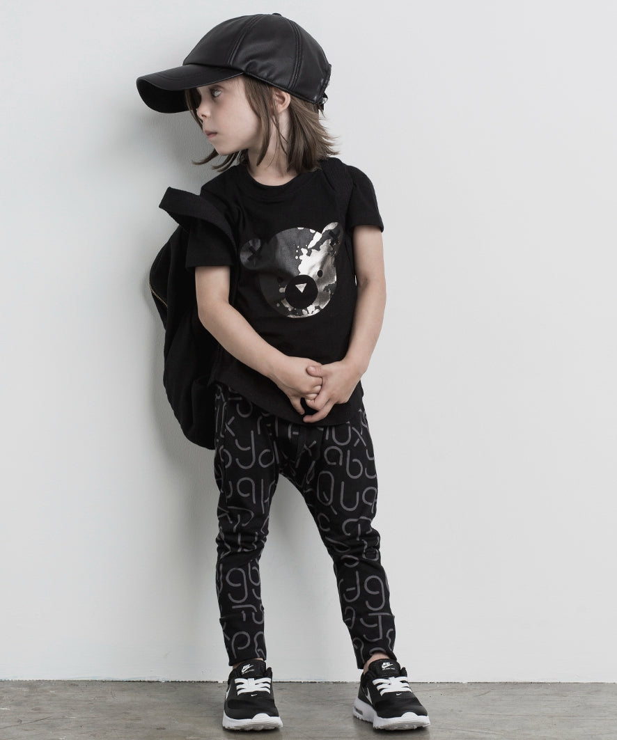 HUXBABY Soft Text Drop Crotch Pant - Last One!! Size: 5Y