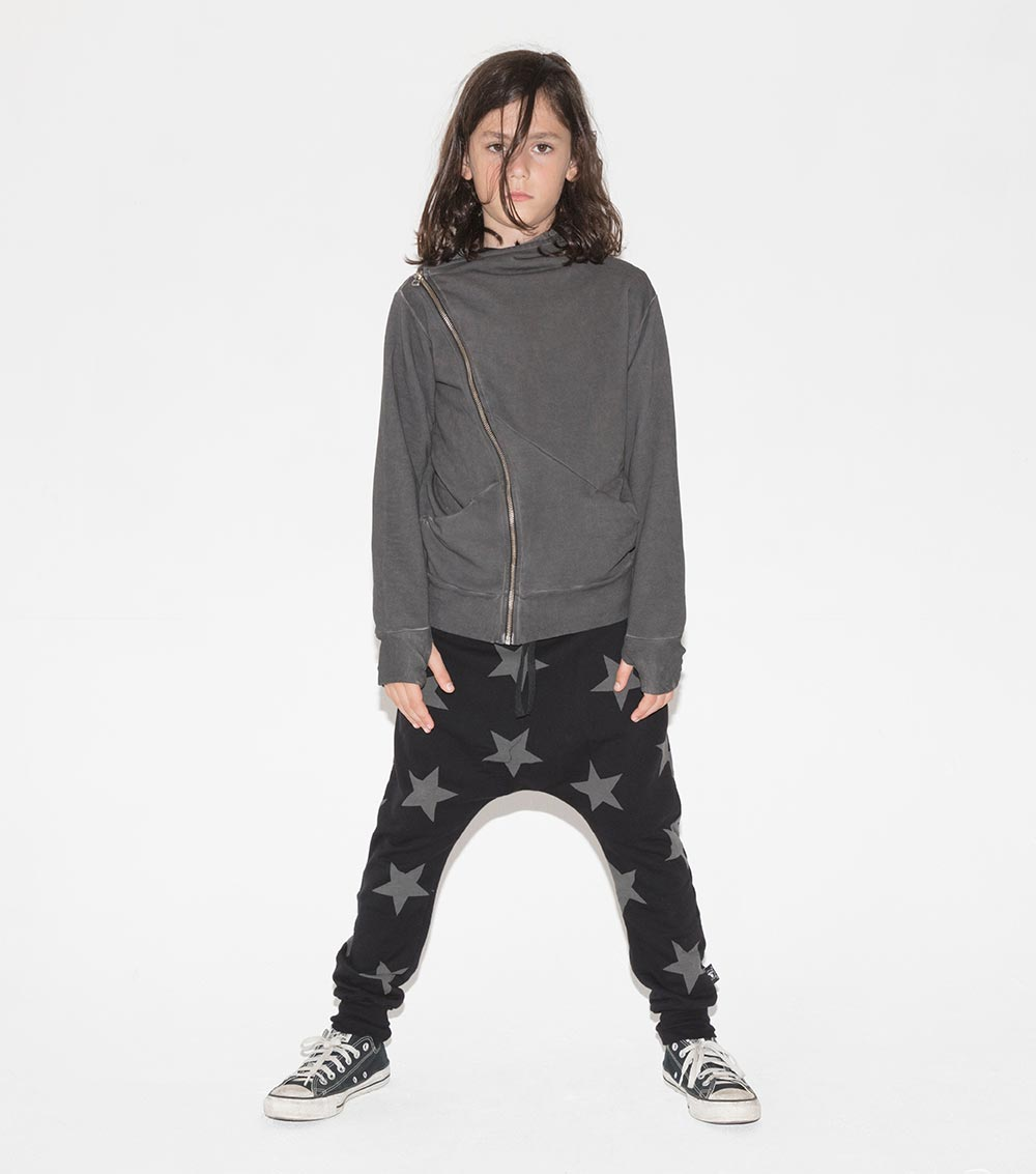 NUNUNU - Star Baggy Pants - Black