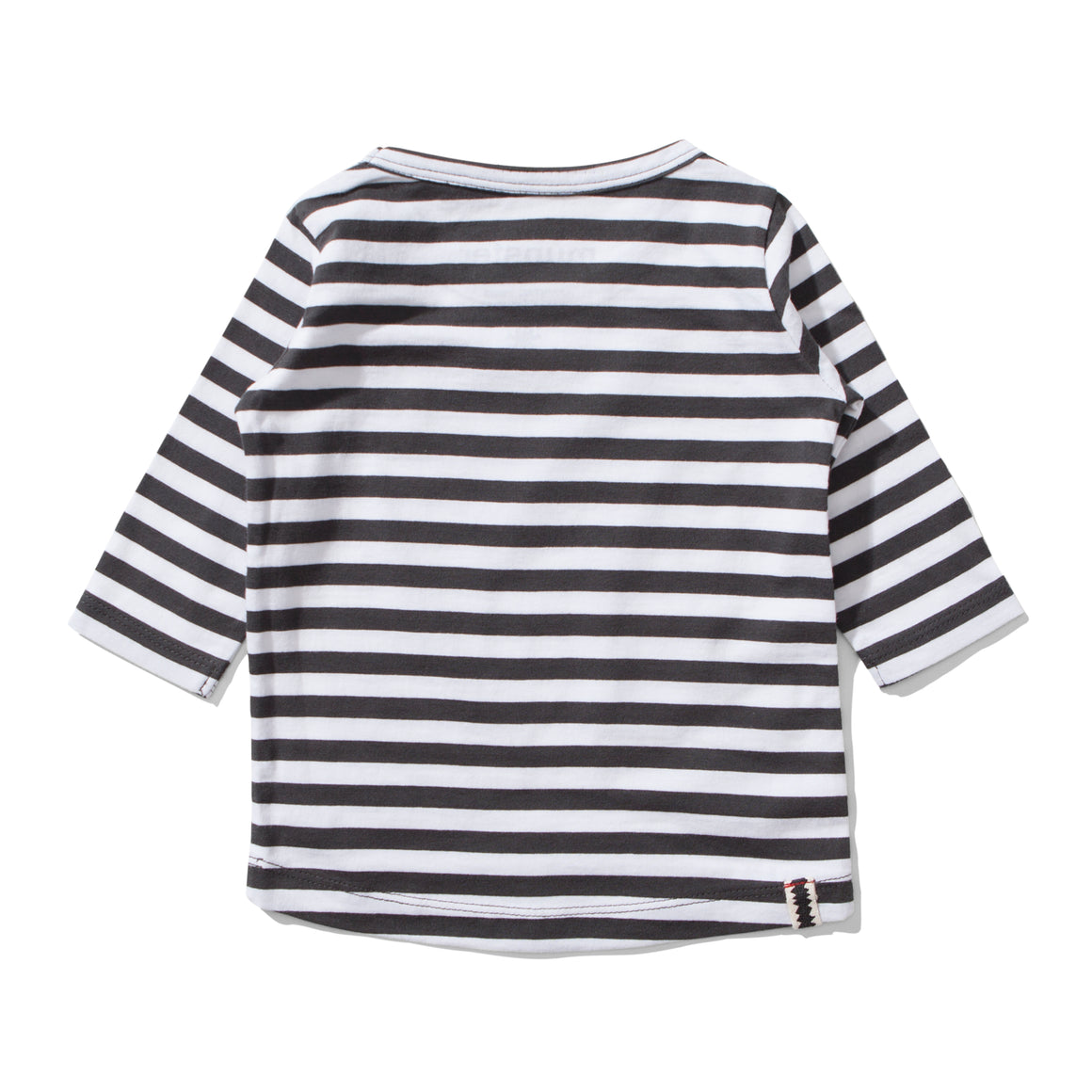 MUNSTERKIDS Adams Striped Long-sleeve Tee - Ash Black - Last One!! Size: 6-12M