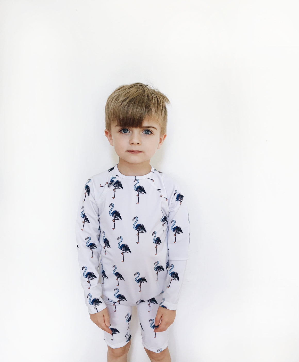 HUGO LOVES TIKI - Rash Guard - Blue Flamingo - Last One!! Size: 4T