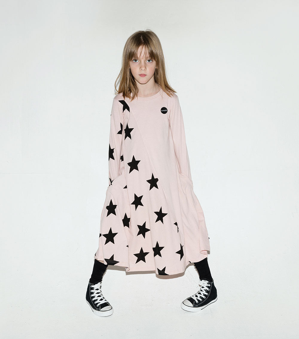 NUNUNU - Maxi Star 360 Dress- Powder Pink - Last One!! Size: 18-24M