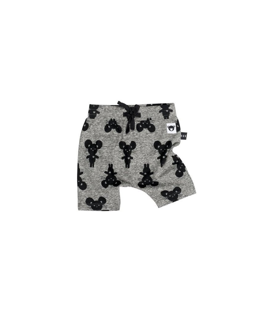 HUXBABY - Mouse Charcoal Shorts