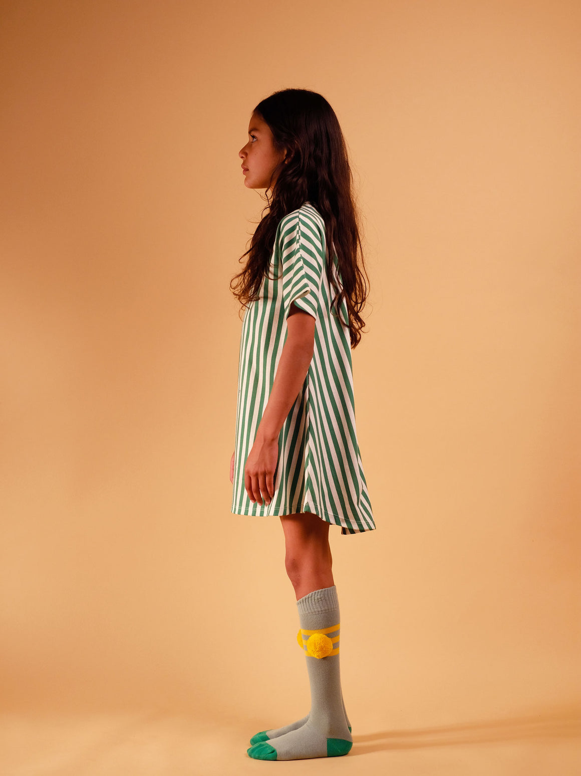 WOLF & RITA - Long Socks Stripes - Yellow - Last One!! Size: 18-24M