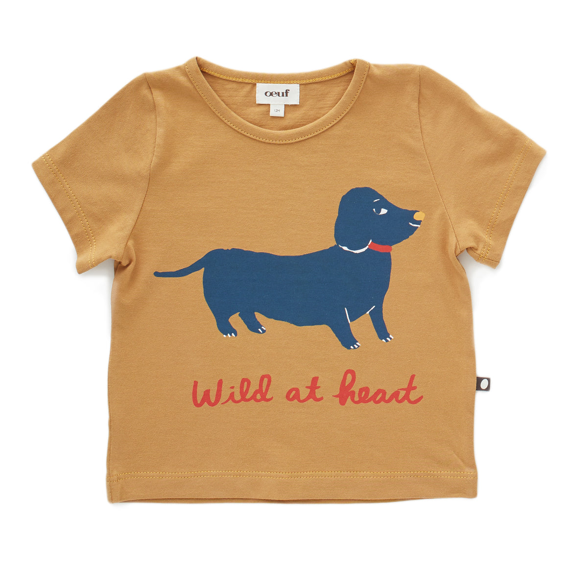 OEUF - Tee Shirt - Ochre/Dog