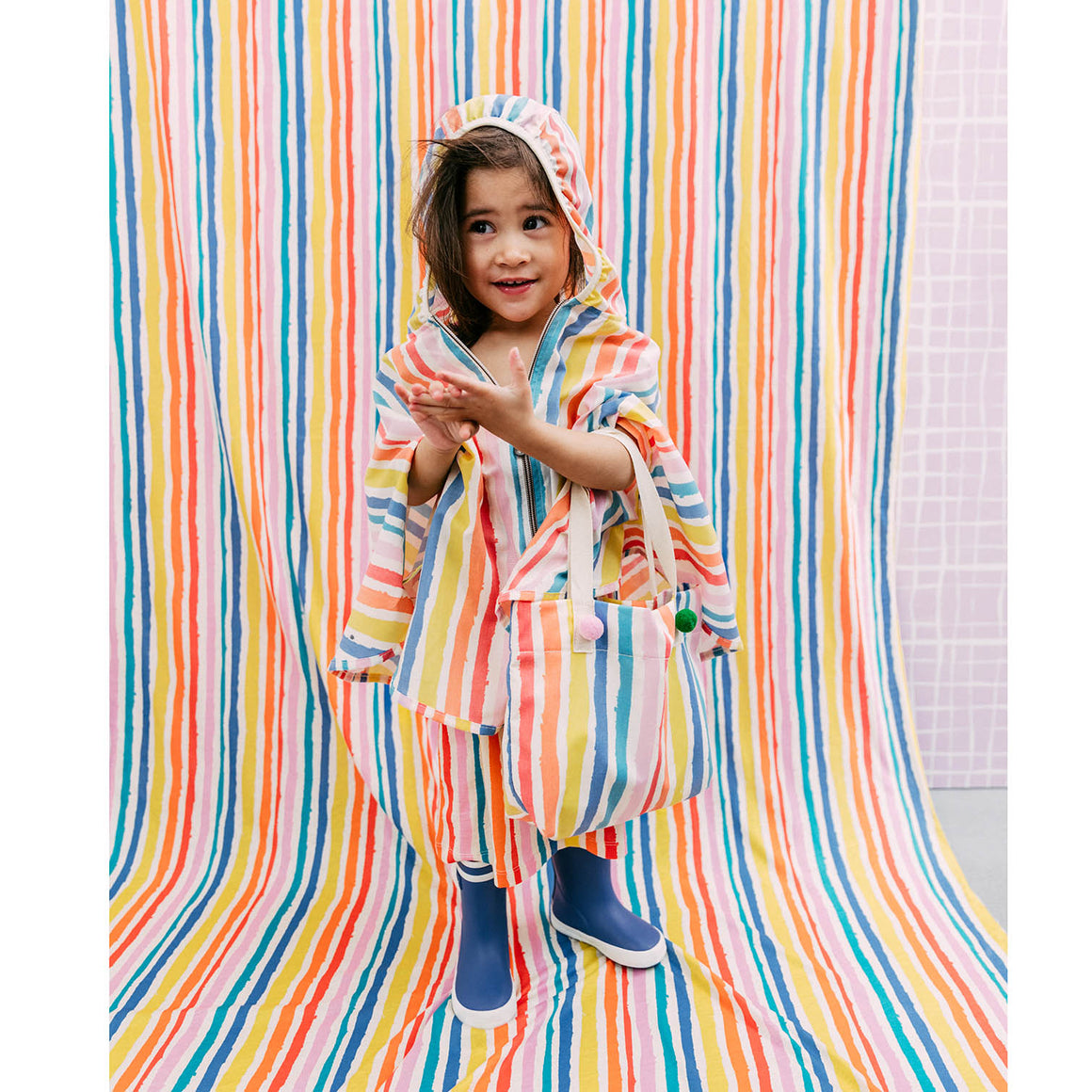 NOÉ & ZOE - Multi Coloured Stripe Windbreaker