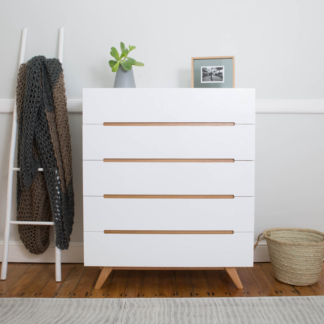 Introducing the Flat White Chest of Drawers