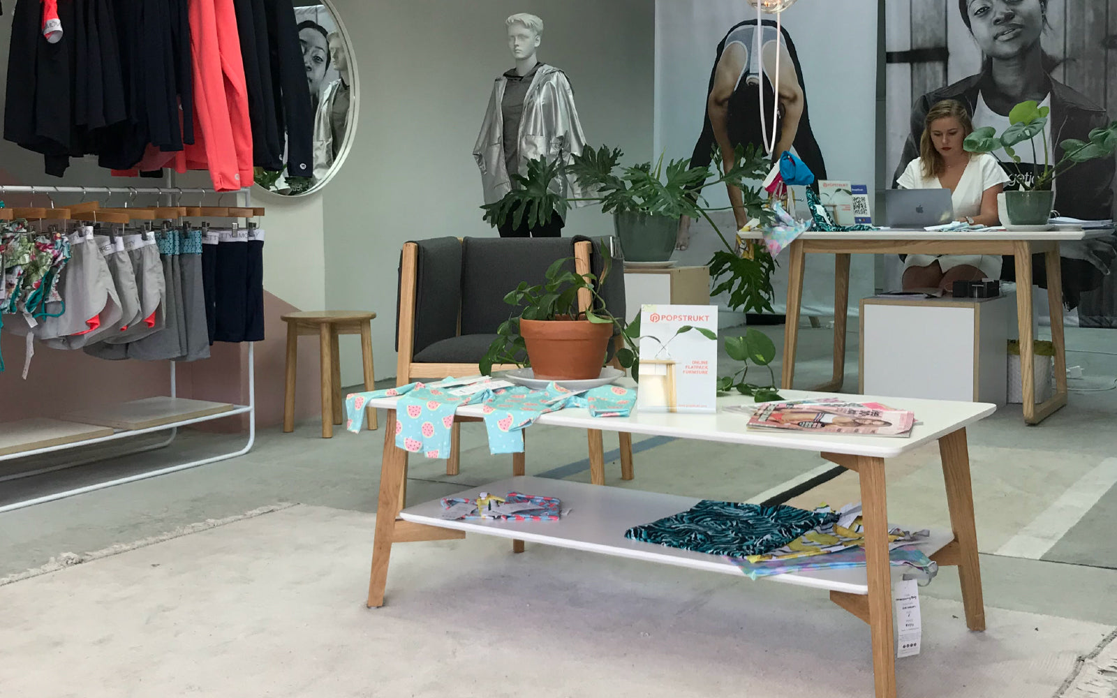 Move Pretty Pop Up Store featuring Popstrukt furniture