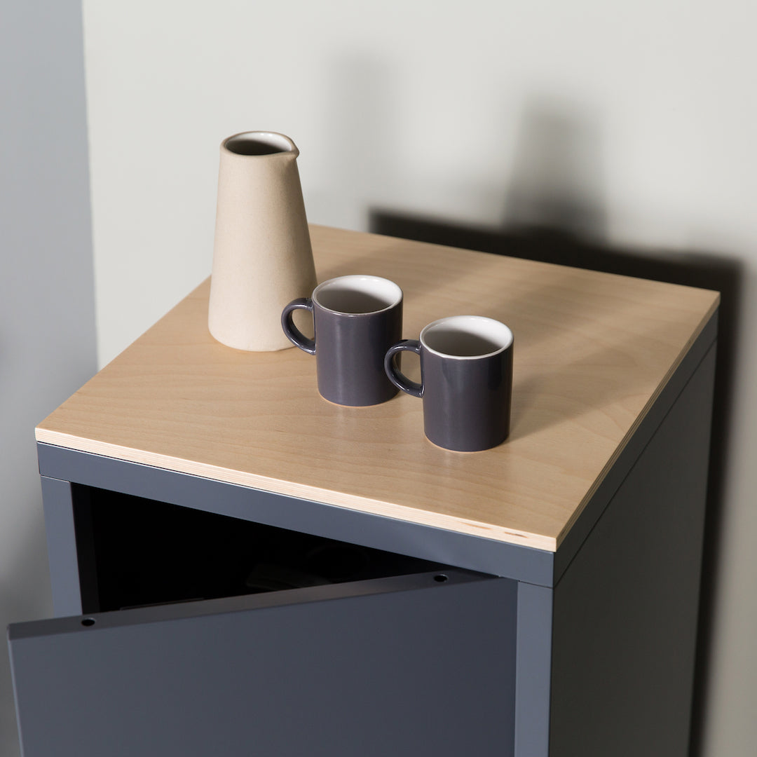 wooden table top for steel flat pack side table