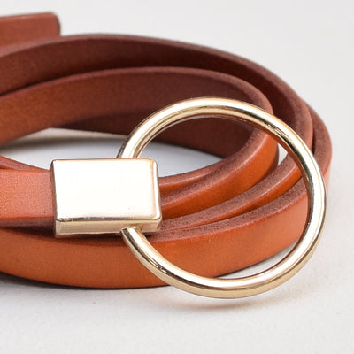 Leather Belt , VANILLA TOP