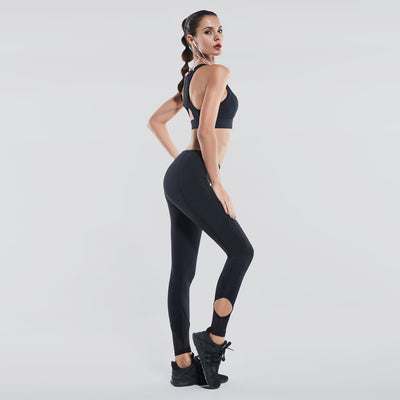 Ankle Cropped Sport Leggings , VANILLA TOP