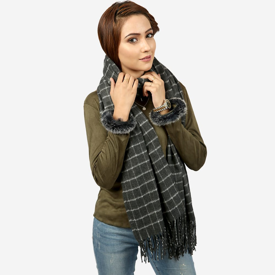 Square Check Scarf