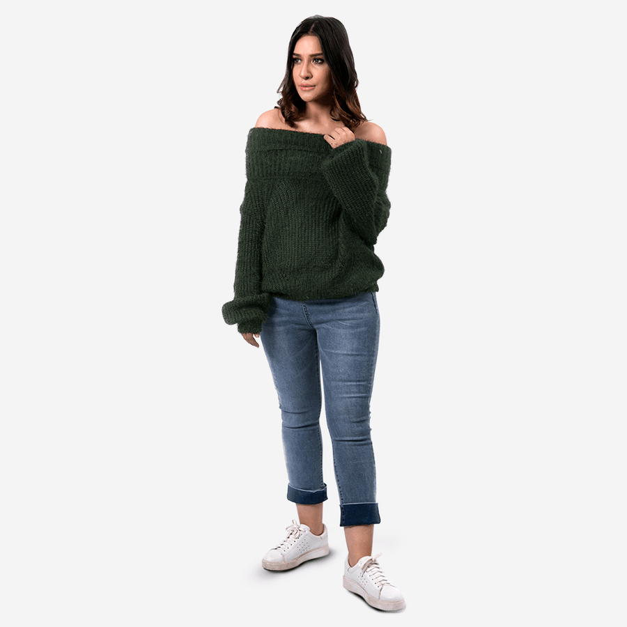 Knit Off Shoulder Sweater
