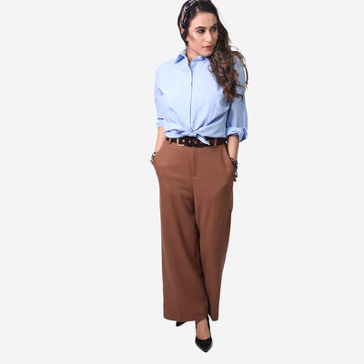 Belted Woven Pants , VANILLA TOP