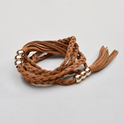 Braided Tassel Belt , VANILLA TOP