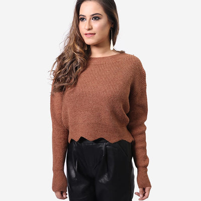 Raw Cut Sweater , VANILLA TOP