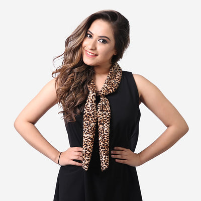 Leopard Collar Dress , VANILLA TOP