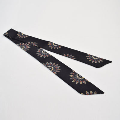 Printed Headwrap Scarf , VANILLA TOP