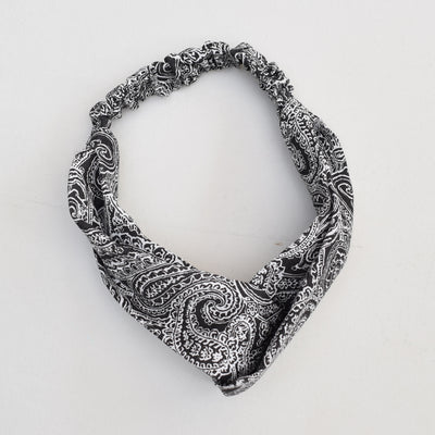 Knotted Bandana Headwrap , VANILLA TOP