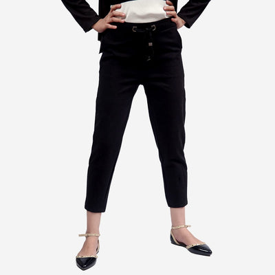 Slim Woolen Trousers , VANILLA TOP