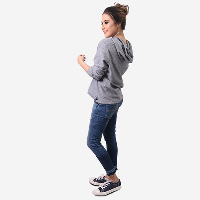 Buttoned Collar Hoodie , VANILLA TOP