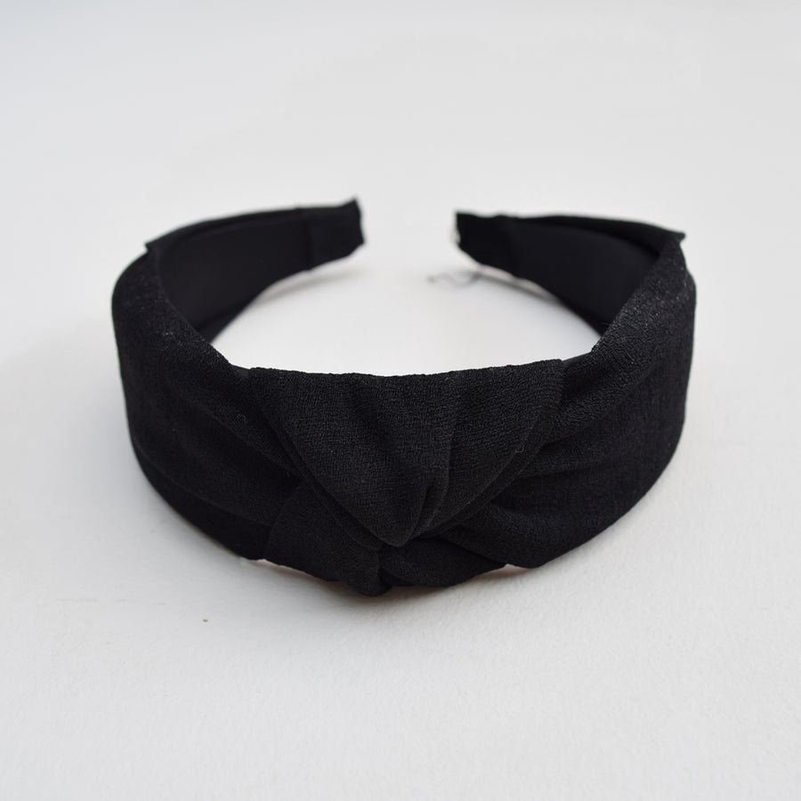 KNOTTED HEADBAND , VANILLA TOP