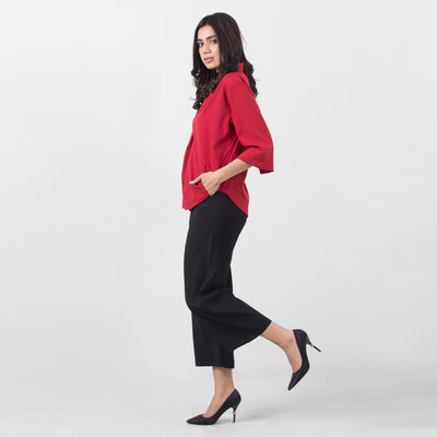 Formal Pleated Blouse , VANILLA TOP