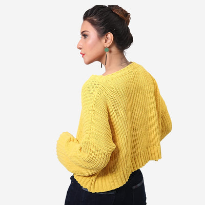 Solid Bell Sweater , VANILLA TOP