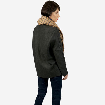 Zipped Up Woven Short Coat , VANILLA TOP