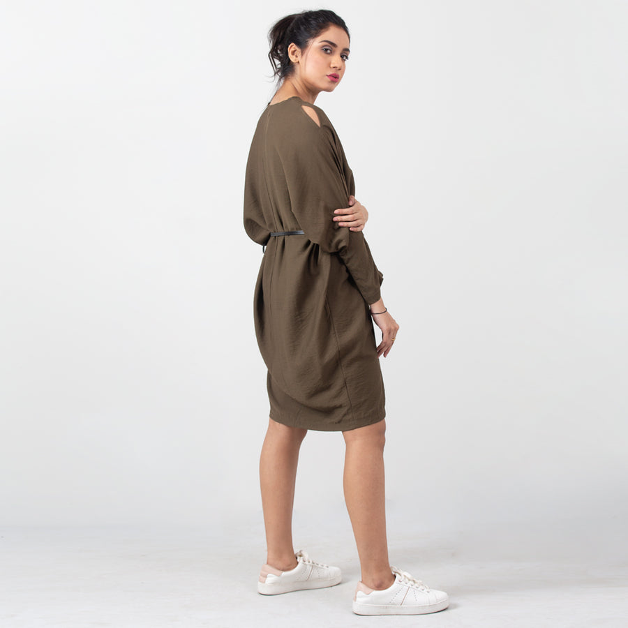 Belted Shirt Dress , VANILLA TOP