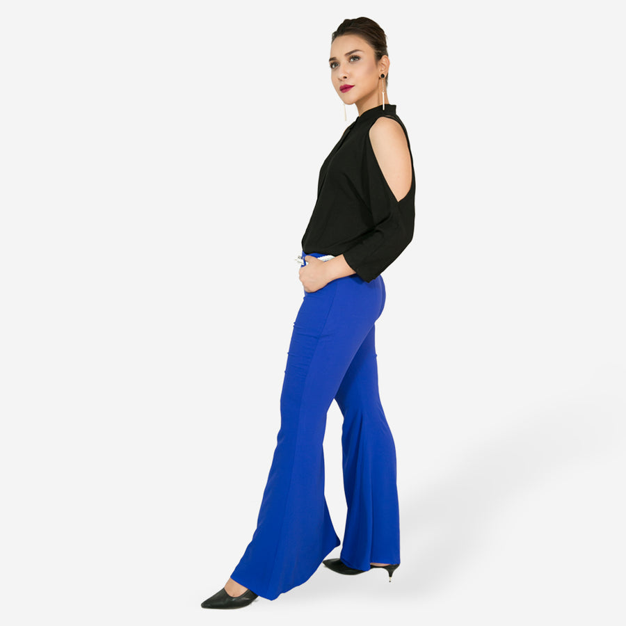 Flared Long Palazzo Pants