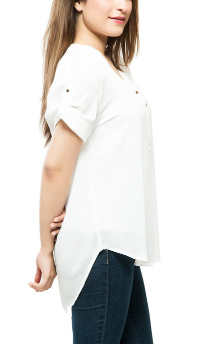 House Of Hue Top , VANILLA TOP