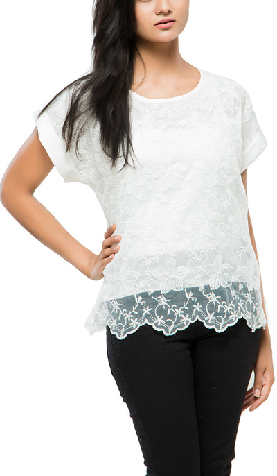 Netlook Top , VANILLA TOP