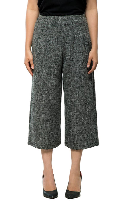 Slim Pleated Culottes , VANILLA TOP