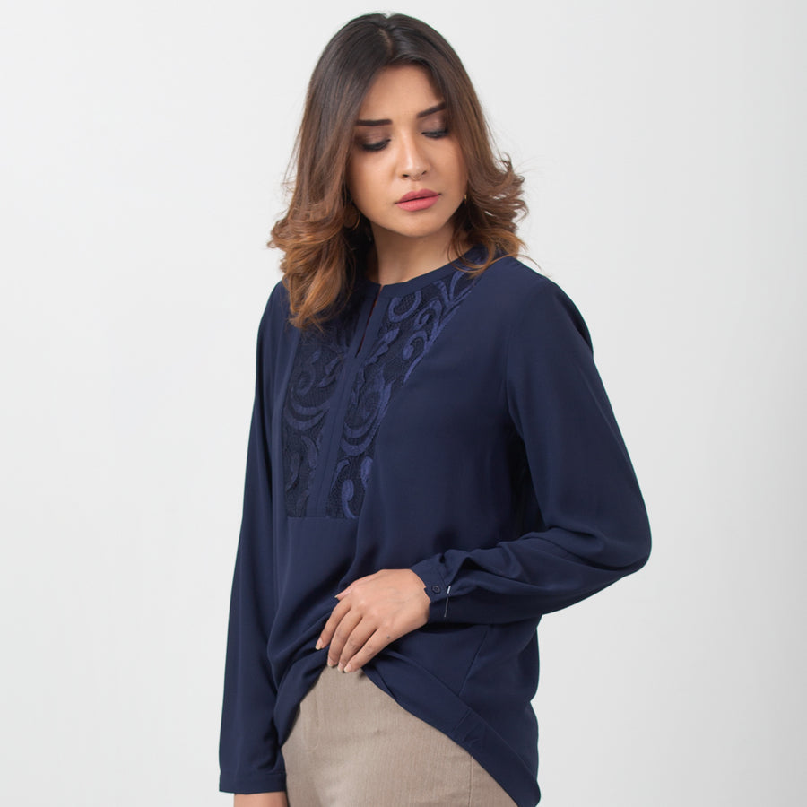 Laced Net Blouse