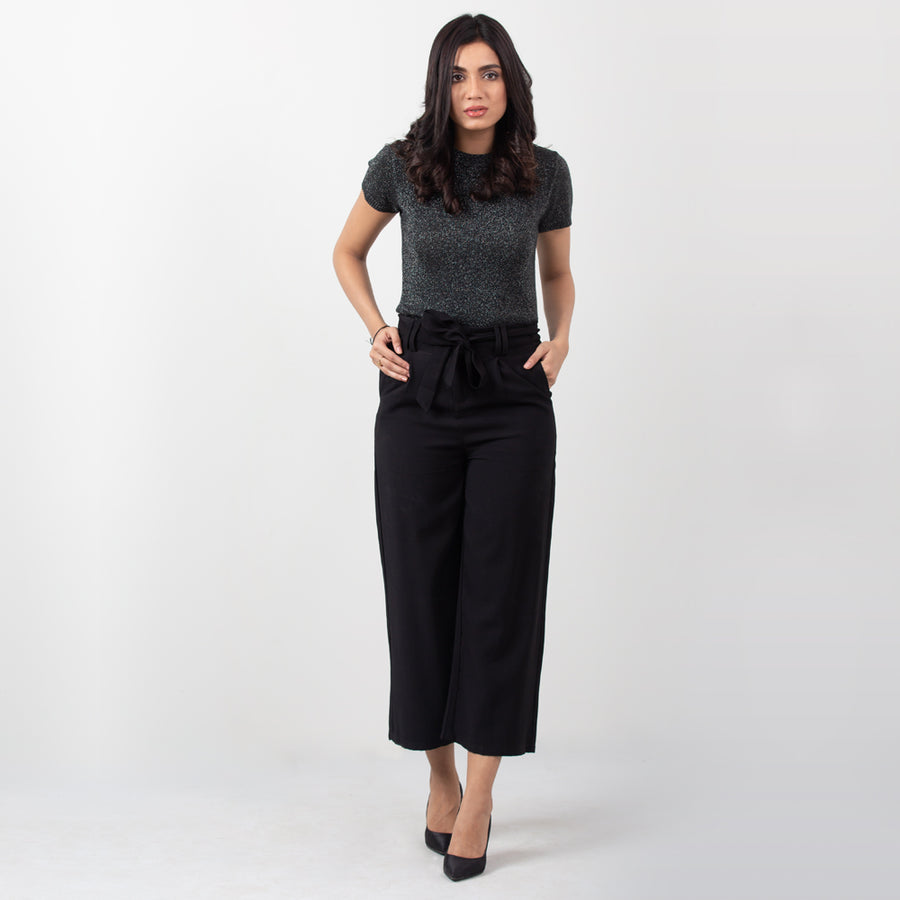 Belted Culotte Pants , VANILLA TOP
