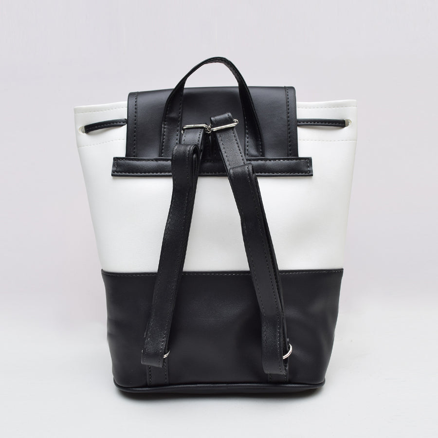 Marble Bucket Shoulder Bag , VANILLA TOP