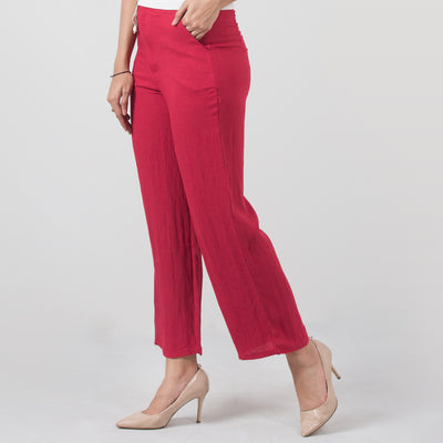 Pile Weave Long Pants , VANILLA TOP
