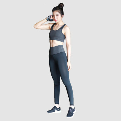Carbon Band Sport Leggings , VANILLA TOP