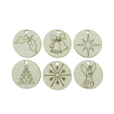 Balsa Wood Christmas Tags And Decorations
