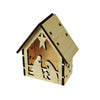 Balsa Wood Christmas Tealight House Joseph & Mary
