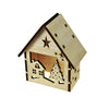 Balsa Wood Christmas Tealight House Winter Tree