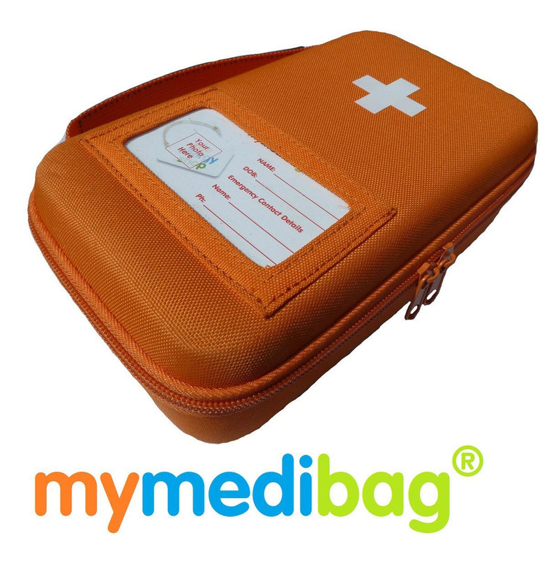 large insulated double EpiPen case medication bag