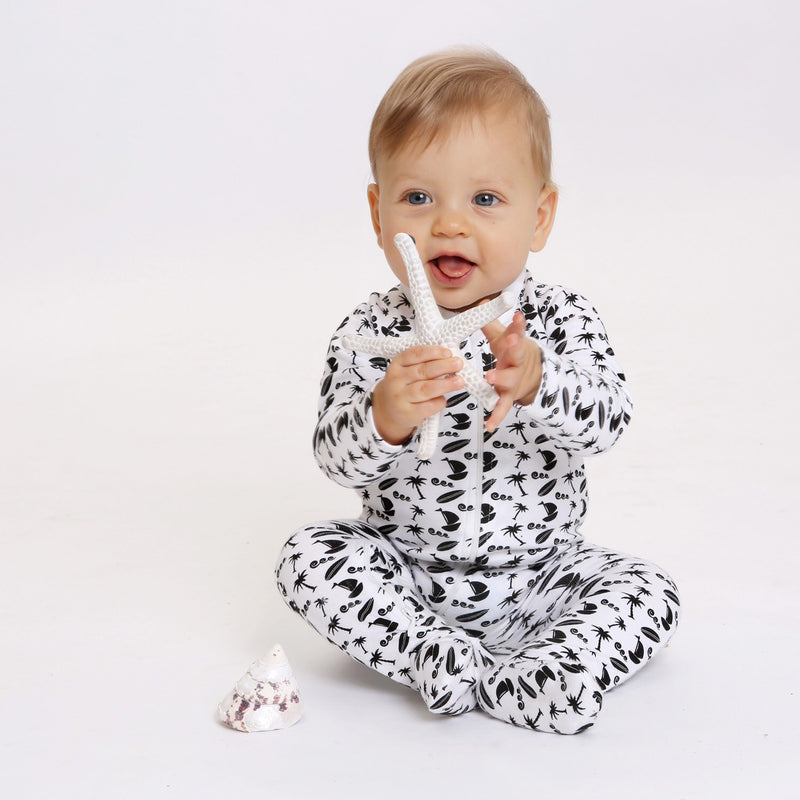 Little Bean Organics - Ocean Breeze Zip Up Onesie
