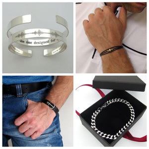 5 Top Modern Men's Bracelet Styles. Personalized Jewelry for Men